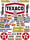 TEXACO Sticker Gang SHEET 16 -R/C MODEL Decal 1/12 -1/10-DIE CUT -NASCAR-^--16