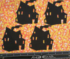 6 HAUNTED HOUSE paper die cuts scrapbook cards embellishments