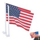 2 American US Car Window American Patriotic USA Auto Flags 12 x 16 PAIR