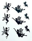 9 GRACEFUL FAIRY FAIRIES FROLICKING SILHOUETTE DIE CUT CUTS LETS ALL PLAY