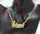 PERSONALIZED 14K GOLD PLATED DOUBLE NAME PLATE NECKLACE W ROLEX CROWN ANY NAME