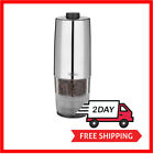 One Hand Battery Operated Pepper Mill Ceramic Grinder Stainless Steel Finish