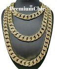 ICED Miami Cuban Choker Chain Necklace Hip Hop Mens Gold Silver 14mm 16 30