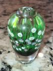 Hand blown art glass perfume bottle Flowers Beautiful Colors