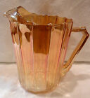 JEANNETTE PITCHER IRIDESCENT PEACH LUSTRE MARIGOLD COLOR MINT