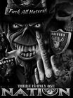 2 Oakland Raiders Nation F All Haterz Vinyl Stickers 475x35 Car Window Decal