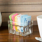 Clear Glass Rectangle Restaurant Fluted Sugar Packet Holders Caddies 12 Case
