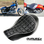 Wide Front Rider Driver Solo Seat For Harley Sportster XL 883 1200 2005 2013