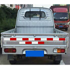 10Pcs Red White Truck Safety Warning Stickers Trailer Waterproof Reflective Tape