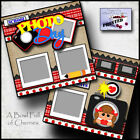 SCHOOL PICTURE DAY GIRL 2 premade scrapbook pages paper piecing CHERRY 0093