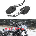 Black Motorcycle Rearview Mirrors For Harley-Davidson Sportster 1200 Nightster