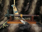 Native American Personal Pipestone Peace Pipe  Decorated Pipe Stand
