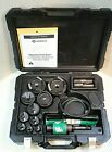 GREENLEE 7310SB HYDRAULIC KNOCKOUT PUNCH SET WITH PLASTIC CASE 100 TESTED