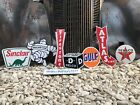 Antique Vintage Old Style Michelin Sinclair Gulf Firestone Texaco Sign Lot Of 8