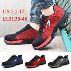 Unisex Steel Toe Work Boots Breathable Safety Shoes Hiking Sports Shoes Protect