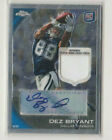 2010 Dez Bryant Rookie Topps Chrome Certified Authe Auto Patch Card 21 25 NM-MT