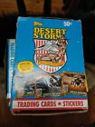 1991 TOPPS DESERT STORM 36 SEALED WAX PACKS Box TRADING CARDS & STICKERS! PSA