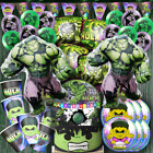 HULK Cupcake Cake Topper Box banner cup plate Birthday Party SUPPLIES DECORATION