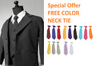 SPECIAL OFFER BOYS BLACK FANCY FORMAL SUIT with FREE COLOR TIE for ALL OCCASION