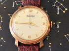 Classic IWC solid 18 gold men's watch, nice larger 37mm Fluorentine case
