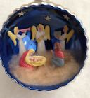 VERY RARE VTG ITALIAN DIORAMA JUMBO MANGER NATIVITY SCENE MARY JESUS ANGELS