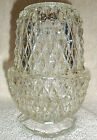 INDIANA 2pc FAIRY LAMP CLEAR DIANOND POINT CANDLE HOLDER