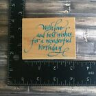 Penny Black With Love and BestWonderful Birthday Words Phrases Rubber Stamp