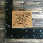 Penny Black Mouse with Rose Flower Rubber Stamp