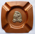 ORIG CWW1 BRITISH ARTISTS RIFLES ASHTRAY W SILVER BADGE LATER SAS REGT