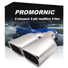 65mm Straight Silver Stainless Steel Exhaust Pipe Muffler Tip Throat Universal