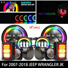 7RGB Headlight+Fog Light+Turn Signal+Fender Light+Tail Light For Jeep Wrangler