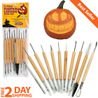 Jack O Lantern Pumpkin Carving Kit Halloween Sculpting Durable Wood Grip Handle