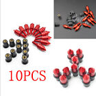 10X M5 15mm Red Motocycle Windscreen Spike Well Nuts Bolt Fairing Screw Kits