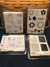 Four Stampin Up sets The Fine Print By Design Loads Of Love Petal Pushers