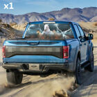 18 x 58 Rear Window White Horse Galloping Graphic Tint Decal Sticker For Truck