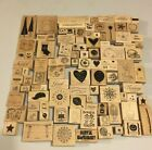 HUGE Lot of 100 Stampin Up Wood Mounted Rubber Stamps