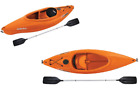 8 Sit In Kayak with Paddle Outdoor Water Sports Canoe Boat Fishing Padded Back