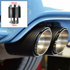Car Carbon Fiber Exhaust Tips Muffler End Tips 3 Inlet 4 Outlet Glossy Black