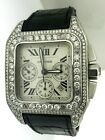 Cartier Santos 100 XL 2740 Chronograph Automatic Watch with Diamonds Everywhere!