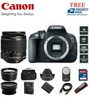 Canon EOS Rebel T5i 700D 180 MP Digital SLR with EFS 18 55mm 3 Lenses 999