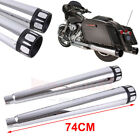 4 Megaphone Slip On Mufflers Exhaust Pipes For 1995 2016 Harley Electra Glide