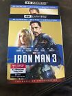 IRON MAN 3 4K  Blu ray never used only opened for digital code