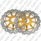 L+R Front Brake Disc Rotors Set For Kawasaki NINJA ZX7R ZX9R ZX9R ZX12R ZXR750
