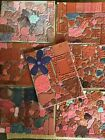 HUGE Lot 70 Wooden Rubber Stamps On Sheets uncountedFor Blocks Used Condition