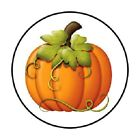 48 COUNTRY FALL HALLOWEEN PUMPKIN STICKER LABEL ENVELOPE SEALS 12 ROUND