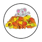 48 CUTE COUNTRY FALL MOUSE STICKER LABEL ENVELOPE SEALS 12 ROUND