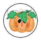 48 CUTE HAPPY PUMPKIN HALLOWEEN STICKER LABEL ENVELOPE SEALS 12 ROUND