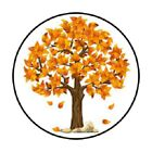48 FALL AUTUMN TREE STICKER LABEL ENVELOPE SEALS 12 ROUND