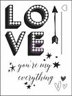 PRIMA MARKETING Clear Stamp Love Clippings Youre my everythingStamping Sta