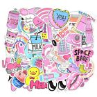 52 pcs Cute Pink girl Series Stickers Waterproof for Car USA saler